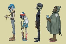 gorillaz music band jamie hewlett noodle murdoc niccals  poster Waterproof Canvas Fabric art Wall Decor 12x18 inch Custom print