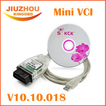 Promotion!! Cheapest Price MINI VCI V10.10.018 Single Cable For Toyota Support for Toyota TIS OEM Diagnostic Software Tool