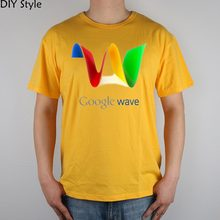 GOOGLE WAVE INTERNET SEARCH ENGINE hilariousT-shirt Top Lycra Cotton Men T shirt New Design High Quality Digital Inkjet Printing(China)