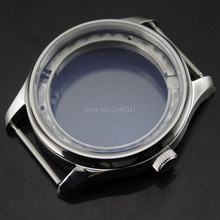 43mm Sterile Stainless steel watch Case Fit Seagull 2505/2530 Movement