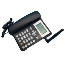 Fixed GSM 900/1800MHz SIM Card Landline Phone With SMS TD-SCDMD Desk Wireless Telephone Home Office Phone Black(China)