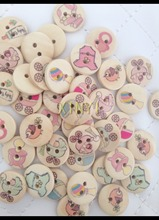 100pcs 15mm mixed lovely cartoon babybaby needs nursing bottle painted pattern wooden bead diy craft home decorative kids toy(China)