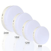 6W 12W 18W 24W Round No Cut ceiling Surface mounted LED downlight led panel light SMD circle ceiling Down lamp kitchen(China)