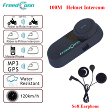 FreedConn TCOM-OS 100M BT Interphone Headset Motorcycle Helmets Headphone Bluetooth Motorcycle Helmet Intercphone Headsets