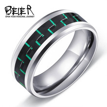 316L Stainless Fashion Man's Ring Titanium Steel Unique 2017 Trendy Jewelry For Men High Quality Wedding Band(China)