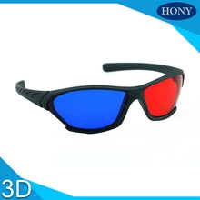 2pcs Universal type 3D glasses/Red Blue Cyan 3D glasses Anaglyph 3D Plastic glasses  3D Movie Game DVD vision/cinema Wholesale
