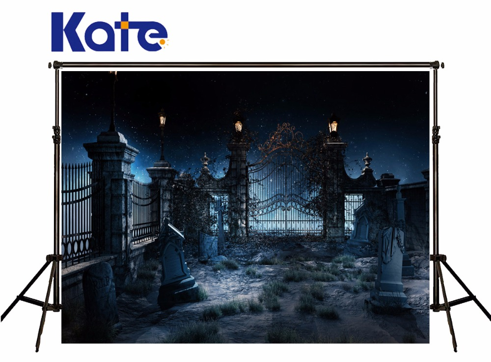 KATE Photography Backdrops Halloween Backdrop Background Door Woods Children Backdrops Halloween Backdrop Blue For Newborn<br>