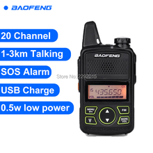 Baofeng T1 Walkie Talkie BF-T1 Two Way Radio mini Portable Ham FM CB Radio Handheld Transceiver For Hotel Restaurant Barbershop(China)