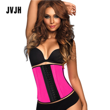 Buy Women 3 Layers Female Rubber Waist Shapers Sexy Waist Cincher Trainer Corset Latex Shapewear Modeling Strap plus size Slim Belt