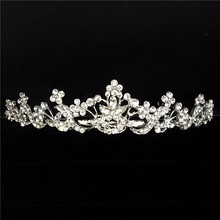 Shiny elegant full rhinestone decorated bridal tiaras hair accessories wedding crown bride hair accessoriesYLQT-007(China)