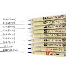 1PC Sakura Pigma Micron Drawing Pen 005 01 02 03 04 05 08 1.0 Brush Stationery Animation Art Supplies Archival Ink Gel Pen