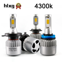 hlxg 2PCS 4300K H7 H4 LED H1 H11 HB3 HB4 Car Headlight Bulbs 8000LM Super Bright Conversion Kit Plug & Play Automotive Headlamp(China)