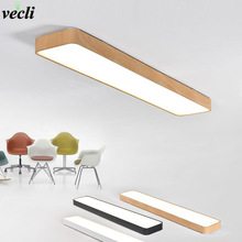 Modern LED Ceiling Lights Black White Square Office Light With ceiling lamp aisle bedroom home lighting light fixtures