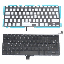 10pcs /lot Wholesale AZERTY FR French France Layout for Macbook Pro A1278 FR Laptop Keyboard 2009-2012 Year(China)