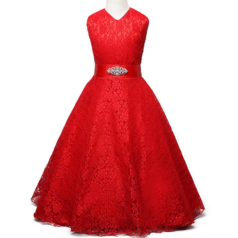 Summer 2017 Girl Lace Dress Wedding Elegant Dress for Girls Kids Party Birthday Clothes Child Prom Gowns Teenager Princess Dress<br><br>Aliexpress