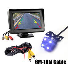 "Thehotcakes 2In1 Car Parking System Kit 4.3"" TFT LCD Color Rearview Display Monitor + Waterproof Reverse Backup Rear View Camera"