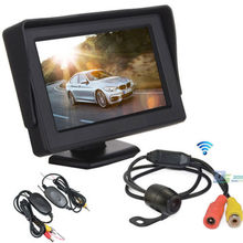 "Wireless Car Rearview Reversing Camera Parking Backup Monitor System + 4.3"" Car LCD TFT Monitor Kit"
