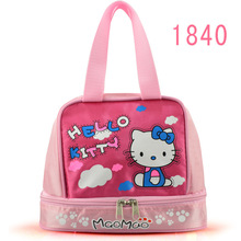 women casual cute cartoon hello kitty Messenger bag pink waterproof mini handbags storage bags cases lunch bag box(China)