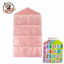 1PCS Polyester 16 Pockets Home Door Wall Vertical Hanging Wall Storage Organizer For Socks Shoe Glasses Keys Sorting Mails Bag