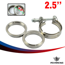 "PQY RACING- New type 2.5"" V Band clamp flange Kit (Stainless Steel 201) For turbo exhaust downpipe PQY5231(China)"