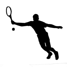 Wholesale 10pcs/lot 20pcs/lot Tennis Racket Ball Vinyl Car Sticker Outdoor Sport Vinyl Truck Bumper Decal Cool Graphic