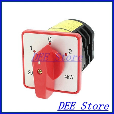 380VAC 20A 4KW 12 Terminals 3 Positions Rotary Selector Cam Changeover Switch<br><br>Aliexpress