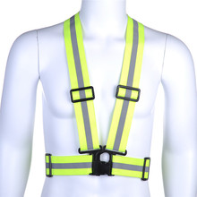 Buy High Visibility Reflection Vest Waistcoat Running Cycling Vest Harness Reflective Belt Safety Jacket Reflective Vest Strip for $6.70 in AliExpress store