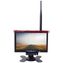 FPV 5.8G 7 Inch 800 x 480 HD LCD Monitor Built-in Lipo Battery and 5.8G Wireless AV Receiver with sun shade Hood For FPV system