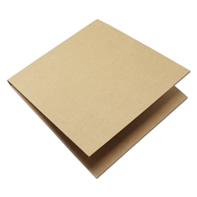 DHL 150Pcs/lot Blank Kraft CD Paper Case Wedding Birthday Party Brown Envelopes Natural Plain Gift Disc CD/DVD Package Paper Bag