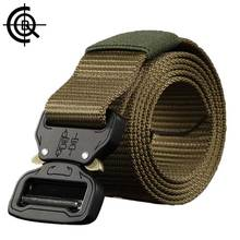 CQB Outdoor Tactical Belt Men Wear-resisting Non-slip Breathable Military Quick Dry Nylon Webbing Heavy Duty Belt YD0143(China)