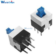 20Pcs 8X8mm Cap Self-locking Type Square Button Switch Blue 100000 Times Service Life(China)