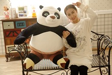 Hot Big Size 50cm/70cm Cartoon Kung Fu Kungfu Panda 3 Stuffed Animal Toy Plush Toy Soft Doll For Kids Birthday Gift Good Quality