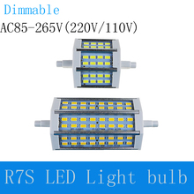 R7S LED light 78mm 118mm SMD5730 corn bulb lamp 85V -265V 110V 220V Energy Saving Perfect replace for halogen floodlight outdoor