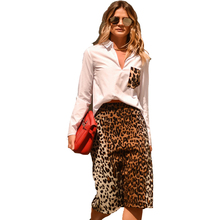 Blouse Women Tops 2016 long Sleeve Women animal print white Shirt Plus Size camisa Casual Lady Leopard Print Blouses Blusas(China)