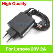 20V 2A 5.2V 2A USB AC Power Adapter for Lenovo tablet pc charger ADL40WLF ADL40WLD 36200583 36200584 ADL40WLE 36200585 EU Plug(China)