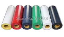 "Free Shipping 6 Yards 20""x3' Flocking Heat Transfer Vinyl For Plotter Transfer in 6 Colors"