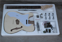 Factory Custom semi-finished 22 frets left hand Electric Guitar with whole hardware,white pickguard,can be customized