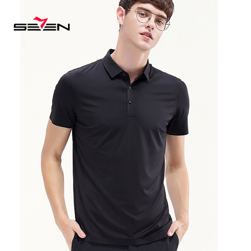 Seven7 2019 New Men's Polo Shirt High Quality Men Microfiber Short Sleeve shirt Brands jerseys Summer Mens polo Shirts 116T50220