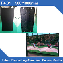 TEEHO LED P4.81 SMD indoor 500*1000mm slim LED Display DieCast Cabinet panel led video rental advertising wedding hotel stadium(China)
