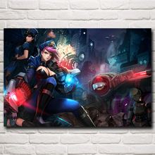 Vi League of Legends LOL Video Game Art Silk Poster Prints Home Decor Paintings 12x18 16X24 20x30 24x36 Inch Free Shipping