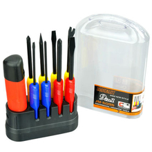 JAKEMY JM-6096 9 in 1 Screwdriver Set Disassembled Tool Slotted Phillips More Size Portable Screwdriver Hand Tool Kit