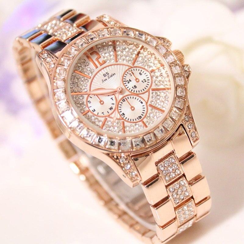 2017 Women Quartz Watches Luxury Diamond Famous Elegant Dress Watches Ladies Wristwatches montre femme Saat clock ZDJ35<br>