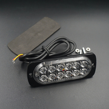 Ultra-thin High Power 36W 12W Waterproof 12V 24V 12LED Car Truck Pickup Emergency Side Strobe Light Warning flashing light led