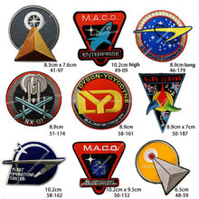 Assorted Star Trek Iron On Patches Medical Command Sciences Enterprise ENLISTED ENSIGNIA M.A.C.O. TV Movie series Embroidered(China)