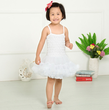 2015 new fashion petti dress pettidress party cloth dance dressBaby girl princess dresses kids clothing rosette dress KP-RDS003