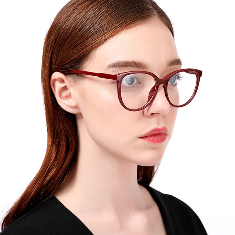 e11a70fecbd HBK Dames Sexy Cat Eye Lunettes Cadres Superbe Marque Designer Optique  EyeGlasses Mode Lunettes Ordinateur Oculos Hommes Femmes
