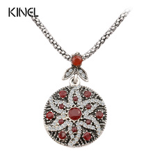 HOT 2017 Vintage Jewelry Round Boho Necklace For Women Mosaic Crystal Ocean Star Jewelry Wholesale