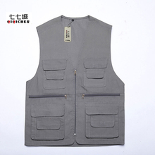 Summer New Multi-Pocket Vest for Men Casual Waistcoat Photography Director Reporter Sleeveless Military Shooting Vest Jacket
