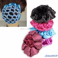 Hair Accessories Women Bun Cover Snood Hair Net Ballet Dance Skating Crochet Decor Lovely Hairdressing Tool -Y207 Drop Shipping