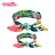 2pcs/lot fresh color print family headbands personality head bands wraps accessories parent child turban wraps ornaments CT-19(China)
